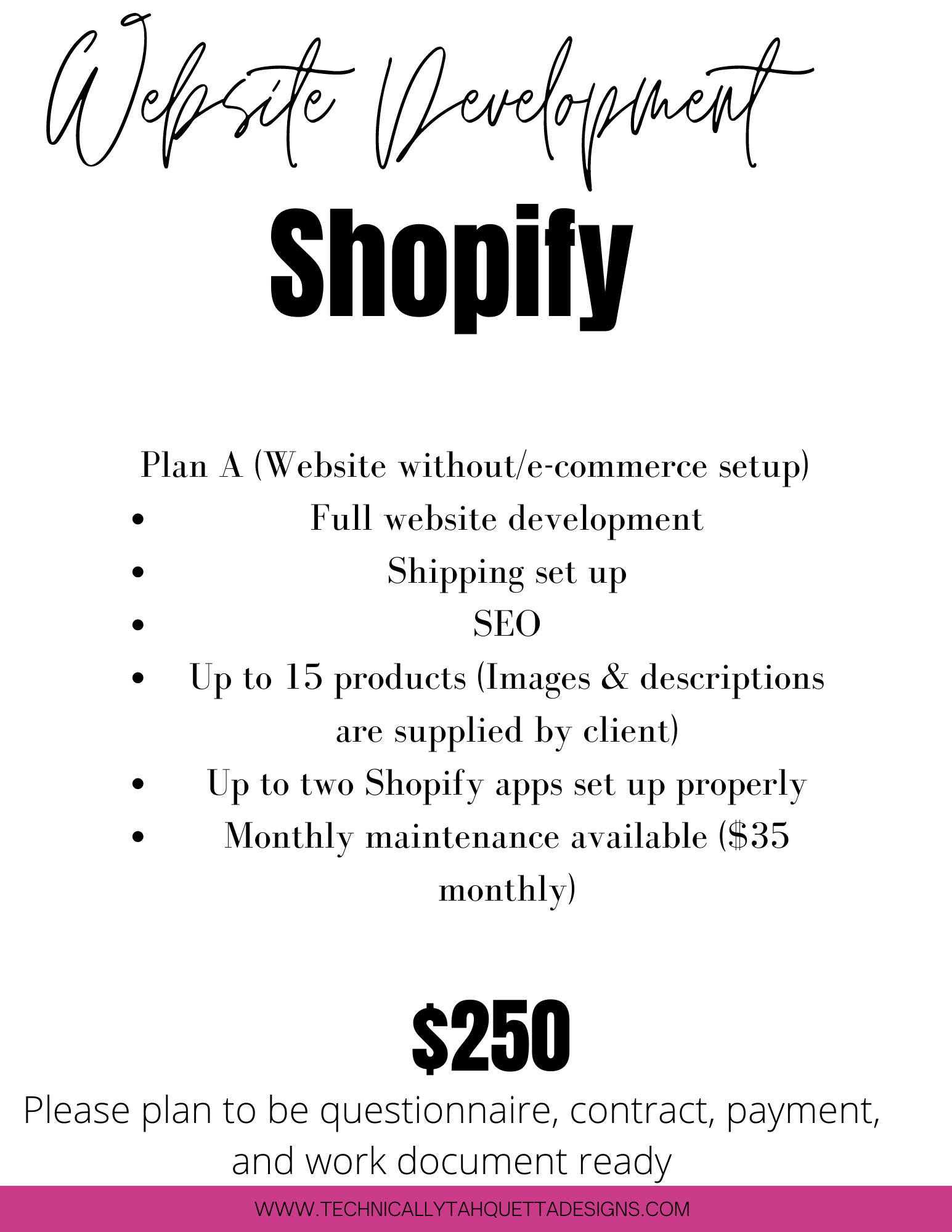 Shopify Website Without E-Commerce