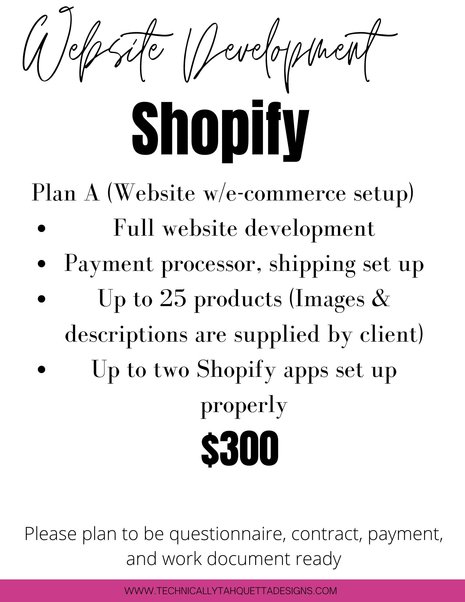 Shopify Website w/ECommerce