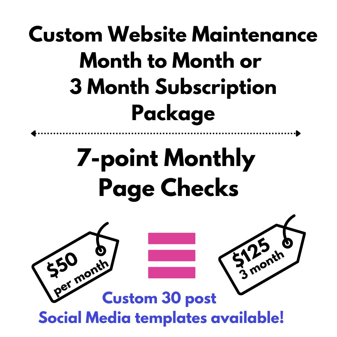 Website Maintenance Package (M2M)