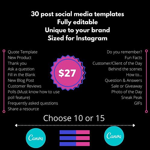 30 Post Social Media Template