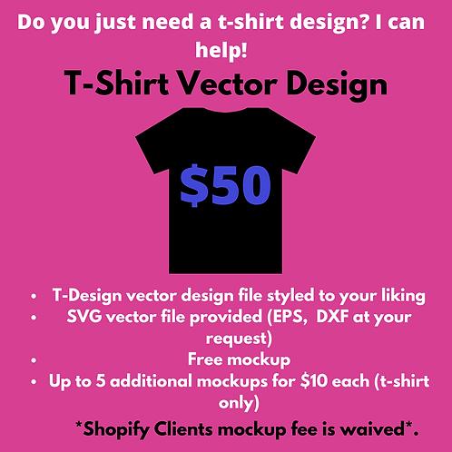 T-Shirt Vector Design w/Free Mockup