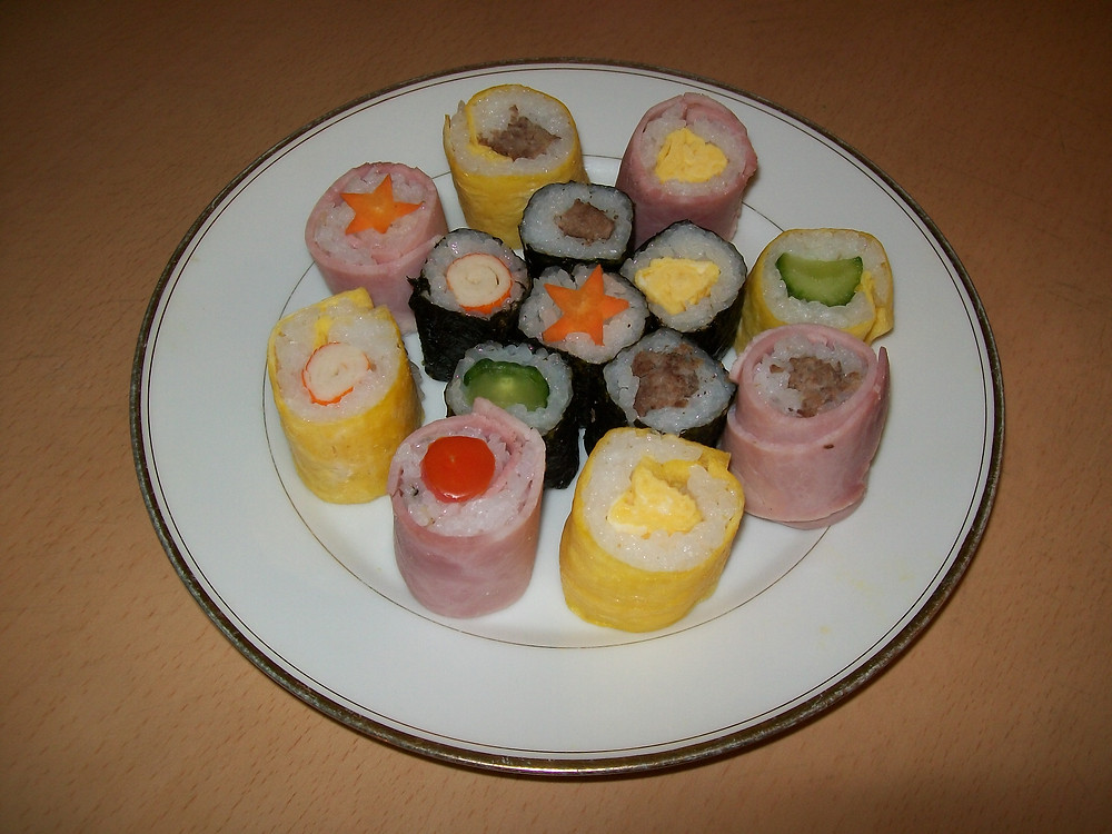 Beautifull maki sushi presentation