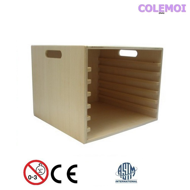 FSC label wooden box and tray