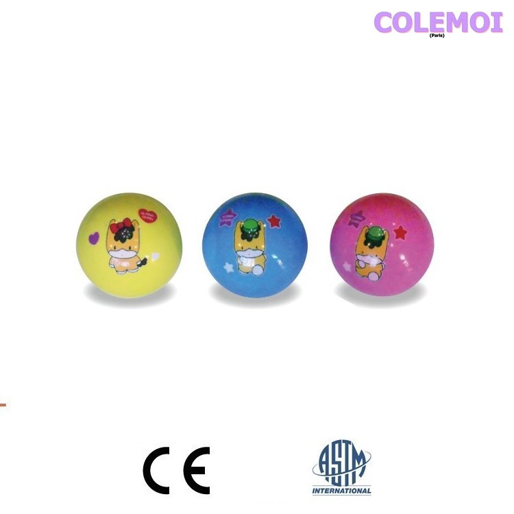 1 yellow, 1 blue and 1 pink Gunma Ball