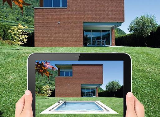 Como seria uma piscina no meu jardim?