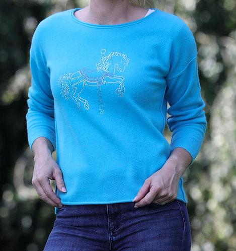 Cashmere Pullover Carrousel turqoise