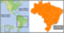 Brazil Map, the country is located in south america.
