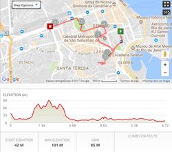 City Running Tour Map, Rio Running