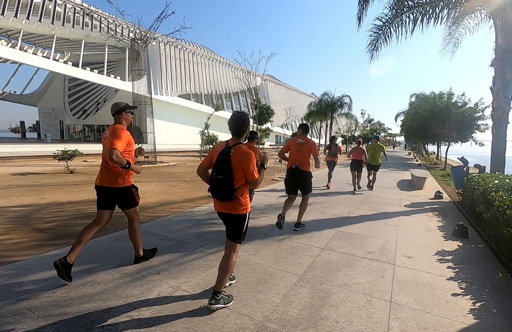 Correndo pelo Museu do Amanhã