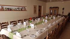 Blocktafel im kleinen Saal