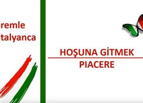 İtalyanca Öğreniyoruz - XIII.Hafta