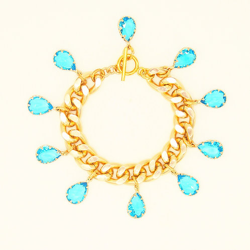 Montespan Chain Bracelet with Crystals
