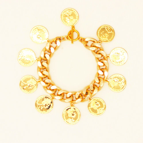 Montespan Chain Bracelet with Coins