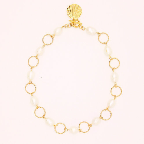Necklace Marie-Antoinette Gold Plated with Pearl