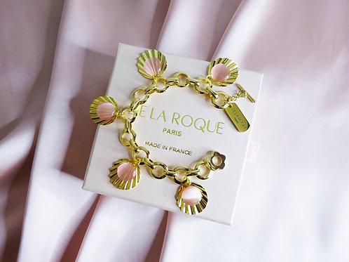 Pompadour Charm Bracelet Gold Plated 18 k