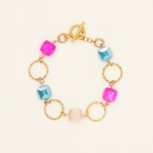 Bracelet Montespan Gold Plated with Crystal