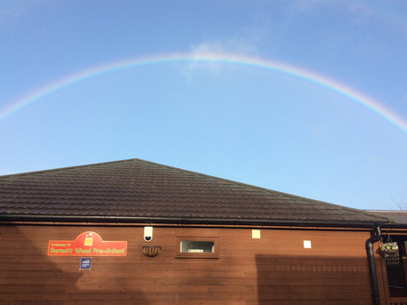 Superb shot of a rainbow over us!