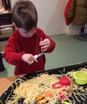 Messing play and cutting skills