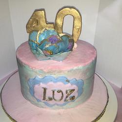 Happy Birthday! #birthday #cake #chocolate #swissmeringuebuttercream #waferpaper ##waferflowers #wat