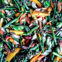 Seasonal Selection of Fresh Roasted Vegetables