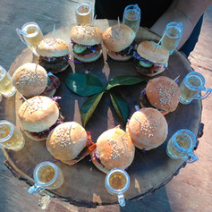 Kalua Pork Sliders on a Potato Bun served with Sip-Sized Beers ~ Your guests are going to love these!