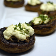Herb, Scallion and Goat Cheese Stuffed Mushrooms