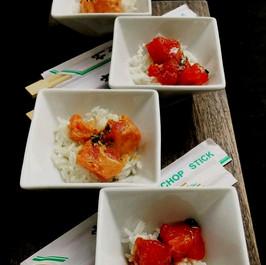 Petite Ahi Poke Bowls ~ Small portions, large taste!