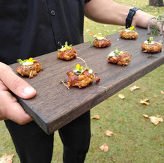 Mini Crab Cakes with Pepper & Chive Aoli ~ A crowd favorite!