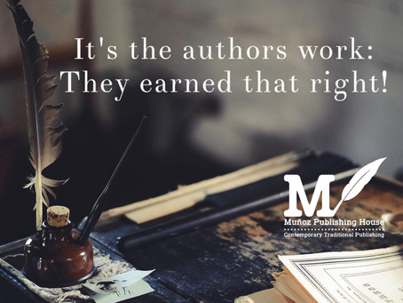 'It's The Authors Work; They Earned That Right!