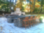 patio and outdoor kitchen and fireplace milton ma