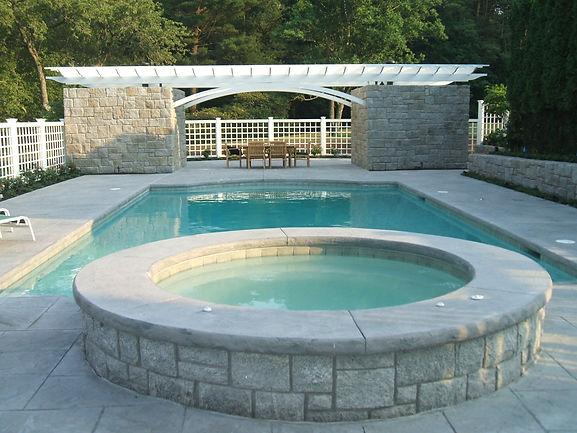 granite wall and pool spa norwell ma