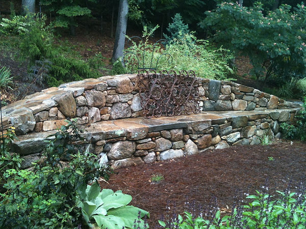 stone garden wall hingham ma