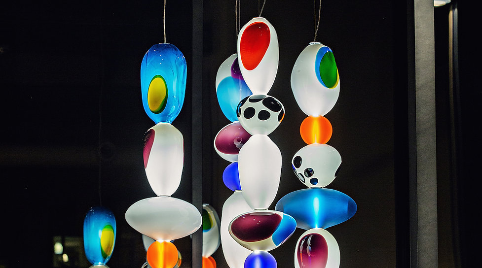 Chandelier by Camilla Moberg, photo Fran