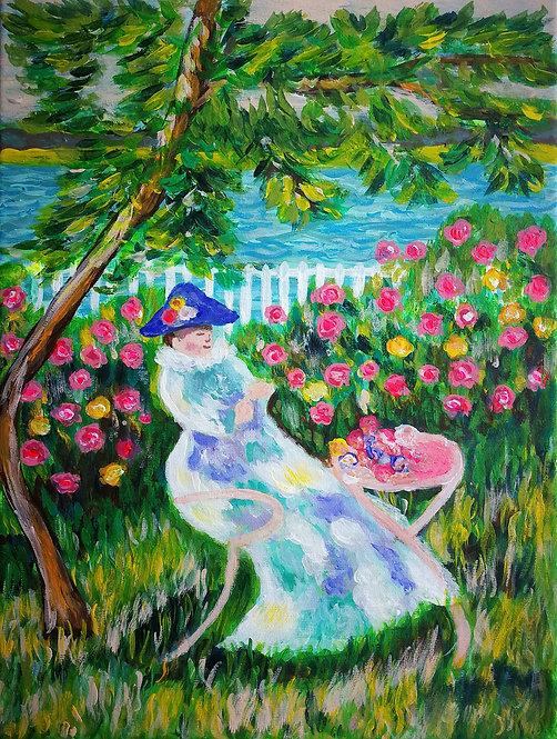 В розовата градина
