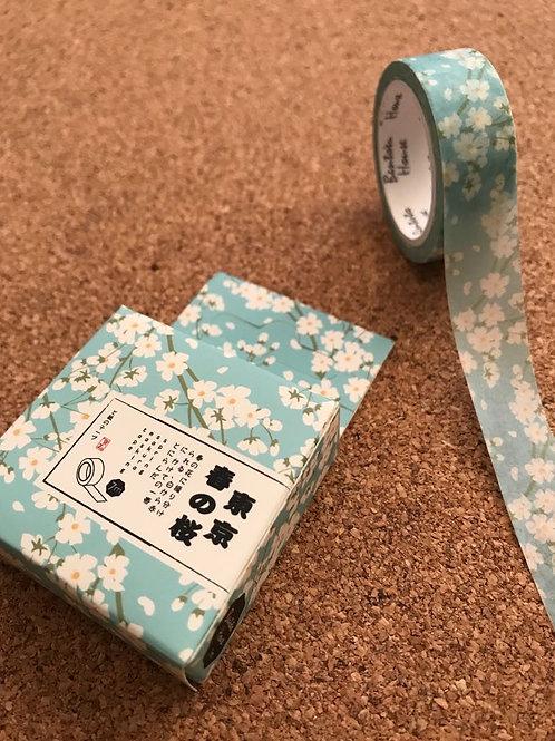 Washi Tape Flor Azul