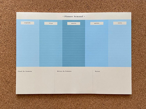 Planner Semanal COLOR BLOCK AZUL