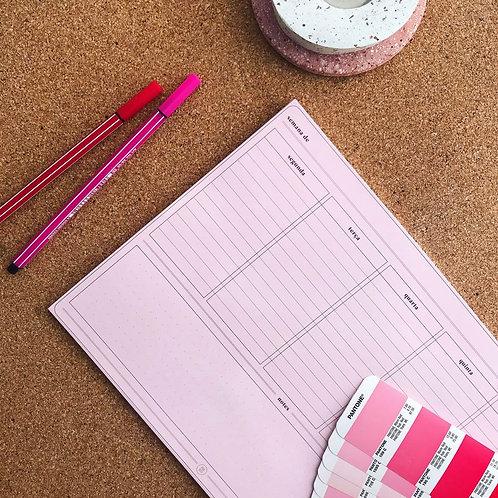 Planner Semanal Rosê