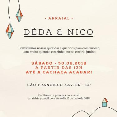 Convite Casamento Deda & Nico