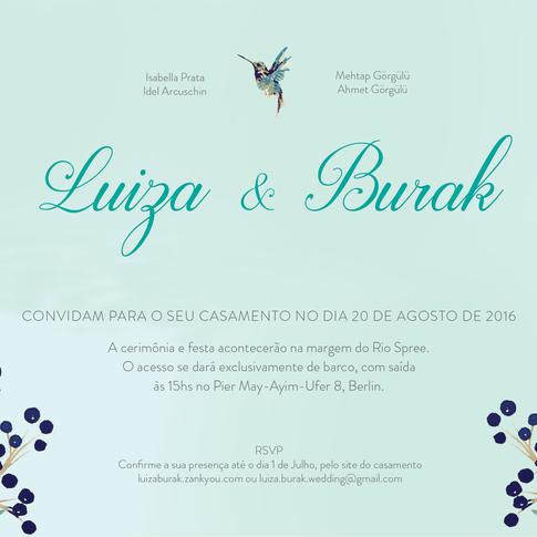 Convite Casamento Luiza & Burak