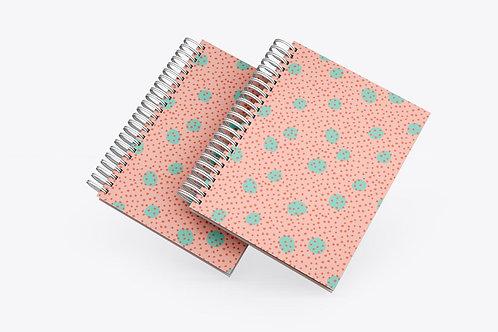 Caderno Dots Pink