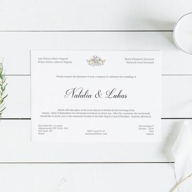Convite Casamento Natália & Lukas