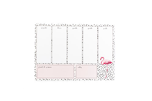 Planner Semanal Flamingo