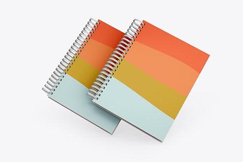 Caderno Ondas Color Block