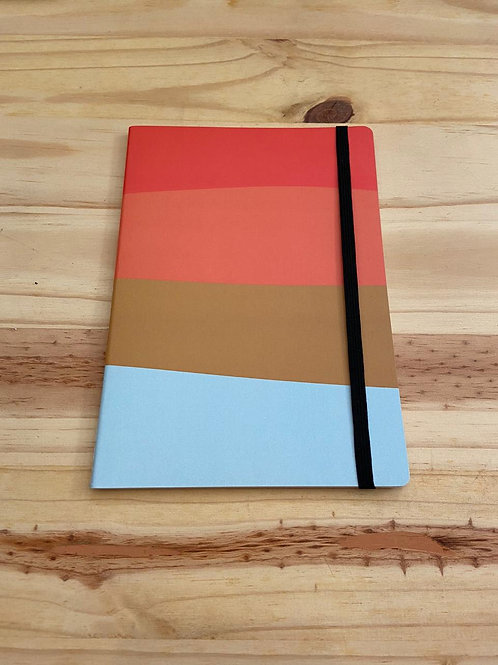 Caderno Ondas Color Block Costura Singer