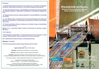 II Coloquio AlVelAl: 'Agua, sociedad, economía y medio ambiente en el territorio AlvelAl'