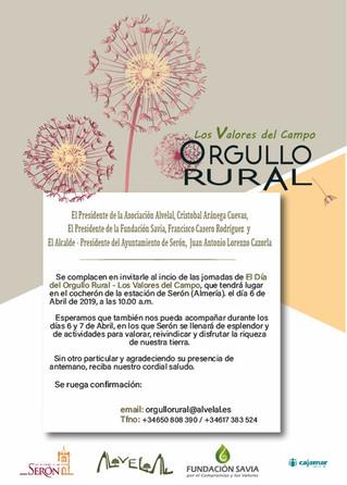 El Territorio AlVelAl celebra el Día del Orgullo Rural. Los valores del campo