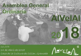 AlVelAl llama a sus socios a participar en la asamblea del 14 abril