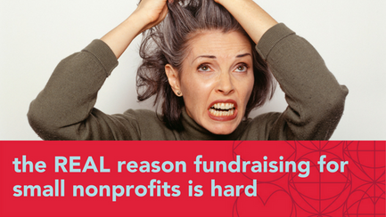the REAL reason fundraising for small nonprofits is hard