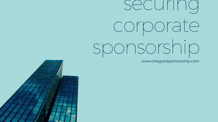 5 steps to securing corporate sponsorship