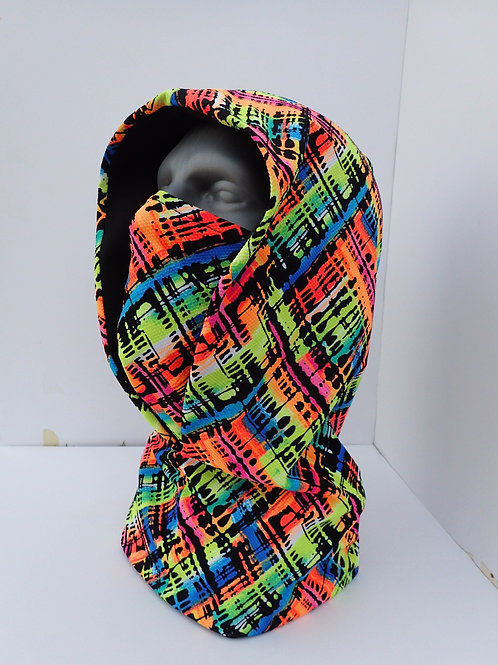 Neon Rave Hood and Face Mask
